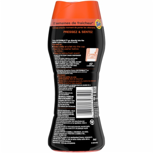 Downy Unstoppable Original Tide In-Wash Scent Booster Beads Perspective: back