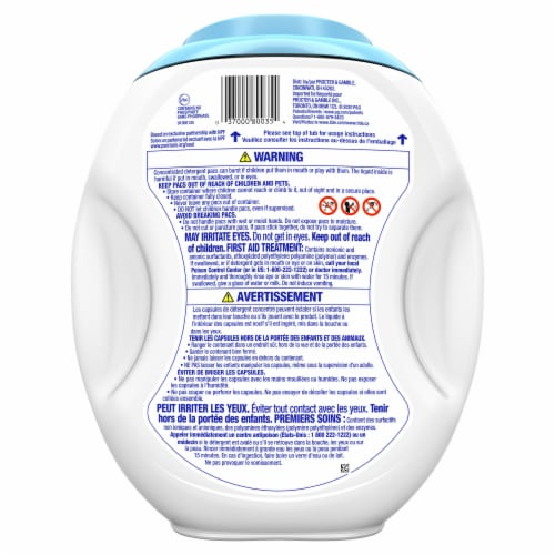 Tide Pods Free & Gentle Liquid Laundry Detergent Pacs Perspective: back