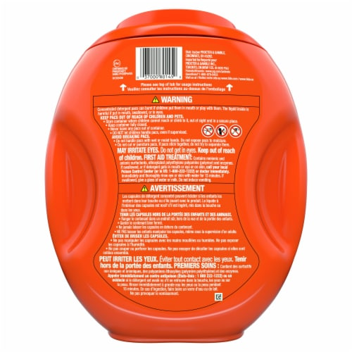 Tide Pods Original 3 in 1 Laundry Detergent Pacs Perspective: back