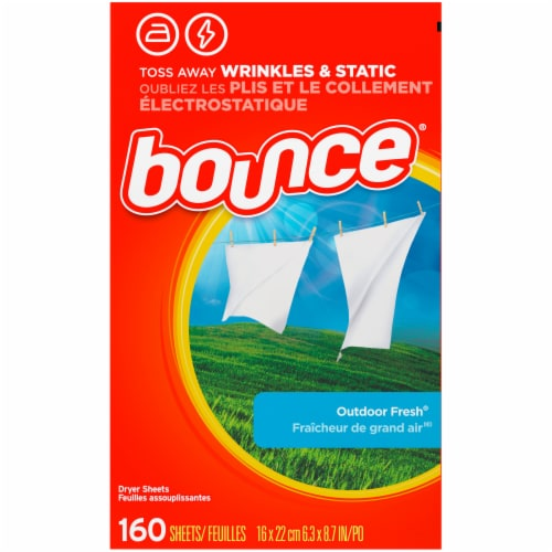 Bounce Outdoor Fresh Fabric Softener Dryer Sheets Perspective: back