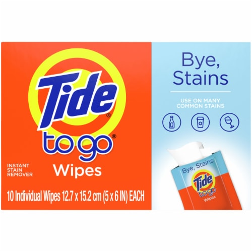 Tide To Go Instant Stain Remover Wipes Perspective: back