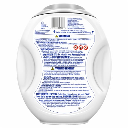Tide® Power Pods Hygienic Clean Scent Free Laundry Detergent Pacs Perspective: back