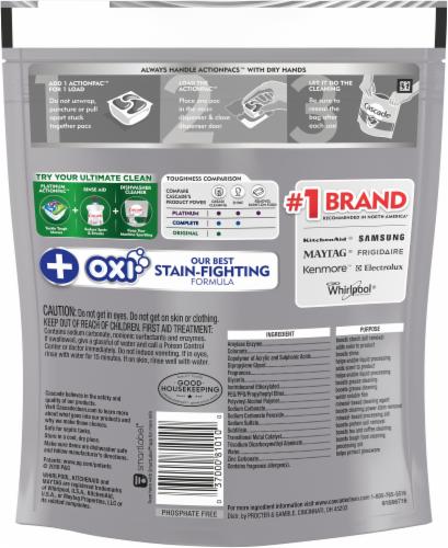 Cascade Platinum + Oxi Fresh Scent ActionPacs Perspective: back