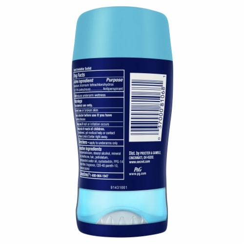 Secret Outlast Completely Clean Antiperspirant/Deodorant Perspective: back