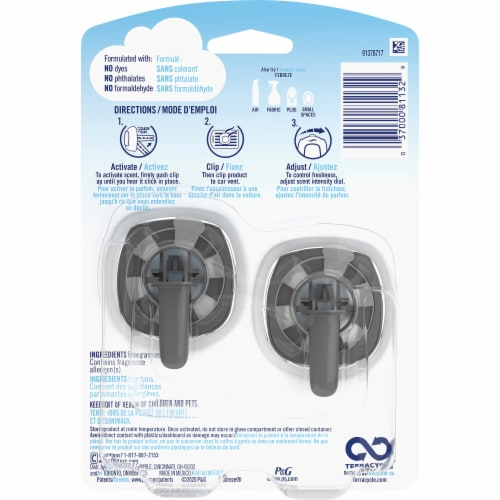 Febreze Car Odor-Eliminating Air Freshener Vent Clips Midnight Storm Perspective: back