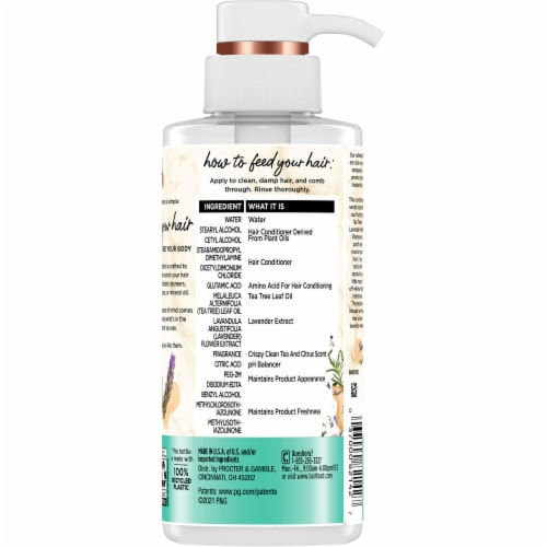 Hair Food Tea Tree & Lavender Sulfate Free Conditioner Dye Free Purifying Perspective: back