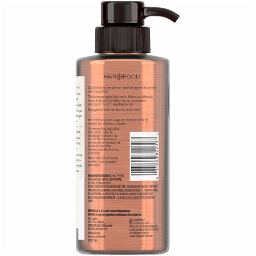 Hair Food Manuka Honey & Apricot Sulfate Free Shampoo Dye Free Moisturizing Perspective: back