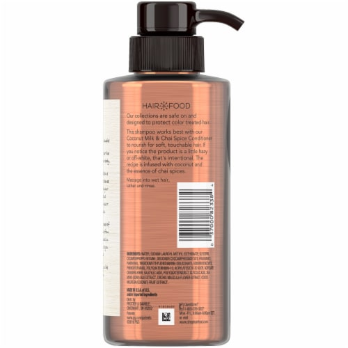 Hair Food Coconut & Chai Spice Sulfate Free Shampoo Dye Free Nourishment Perspective: back