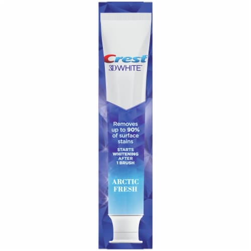 Crest 3D White Arctic Fresh Toothpaste Perspective: back