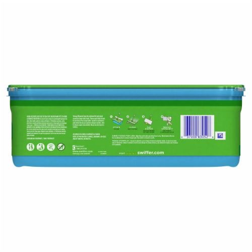 Swiffer Sweeper Wet with Gain Scent Wet Mopping Cloths Perspective: back