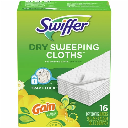 Swiffer Sweeper Dry Sweeping Cloths with Gain Scent Perspective: back