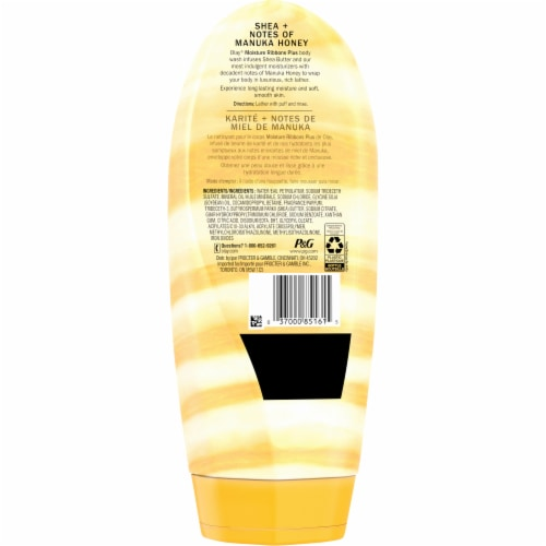 Olay Moisture Ribbons Plus Shea + Notes of Manuka Honey Body Wash for Women Perspective: back