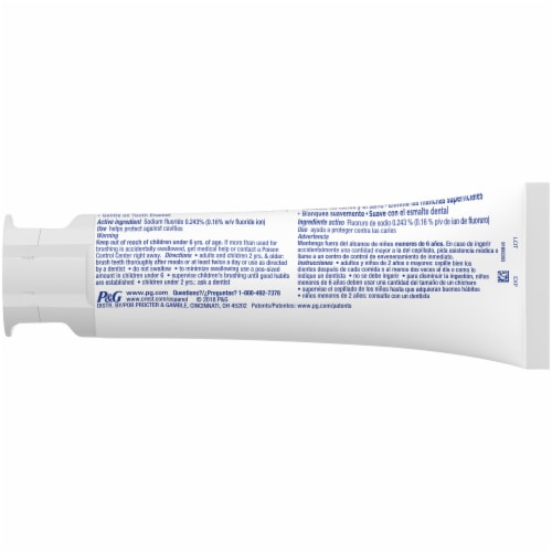 Crest Complete Plus Extra Whitening Clean Mint Toothpaste Perspective: back