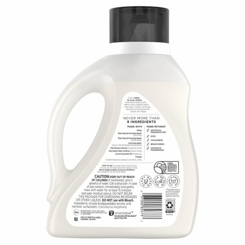 9 Elements Lemon Scent Liquid Laundry Detergent Perspective: back