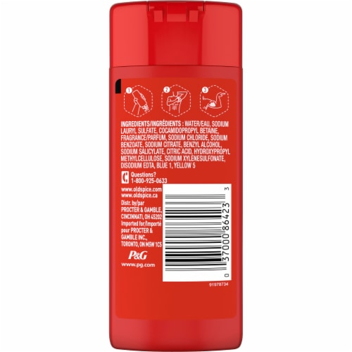 Old Spice Swagger Travel Size Body Wash Perspective: back