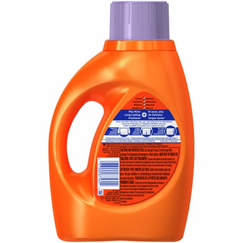 Tide Plus Febreze Spring & Renewal Liquid Laundry Detergent Perspective: back