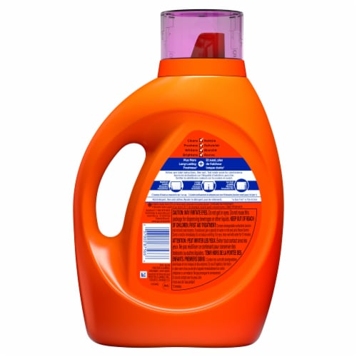 Tide Plus Febreze Freshness Spring & Renewal Liquid Laundry Detergent Perspective: back