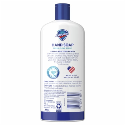 Safeguard Fresh Clean Liquid Hand Soap Refill Perspective: back