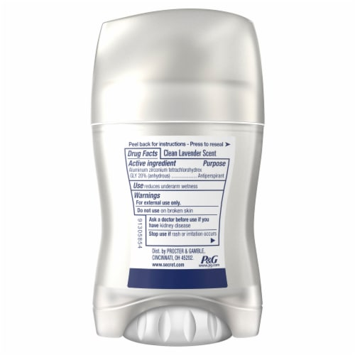 Secret Clinical Strength with B5 Clean Lavender Invisible Solid Antiperspirant/Deodorant for Women Perspective: back