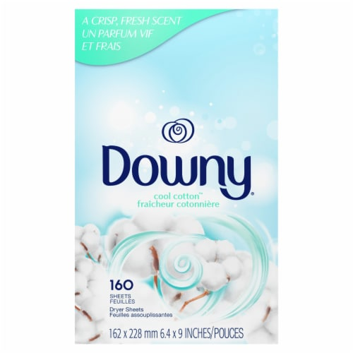 Downy Cool Cotton Dryer Sheets Perspective: back