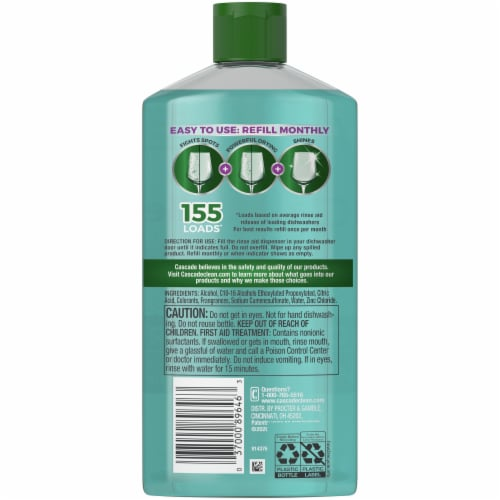 Cascade Power Dry Dishwasher Rinse Aid Perspective: back