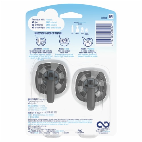 Febreze Car Odor-Eliminating Air Freshener Vent Clips with Gain Scent Island Fresh Perspective: back