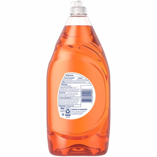 Dawn Ultra Orange Scent Antibacterial Hand Soap Dishwashing Liquid Perspective: back