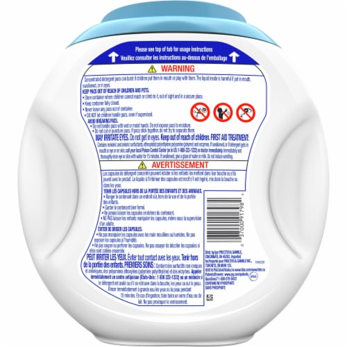 Tide PODS Free & Gentle Laundry Detergent Pacs Perspective: back