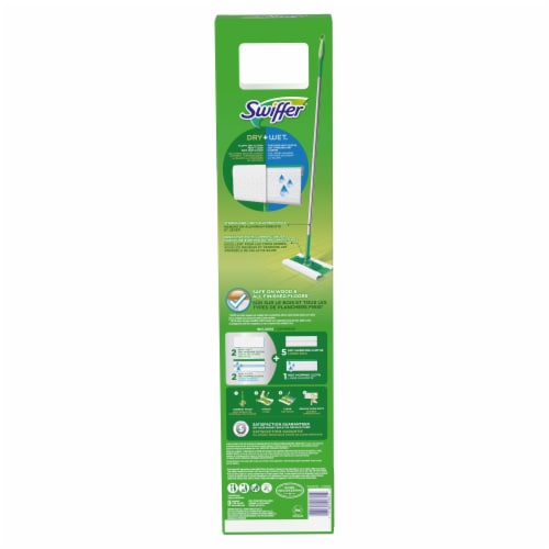 Swiffer Sweeper Dry and Wet Floor Mop Starter Kit Perspective: back