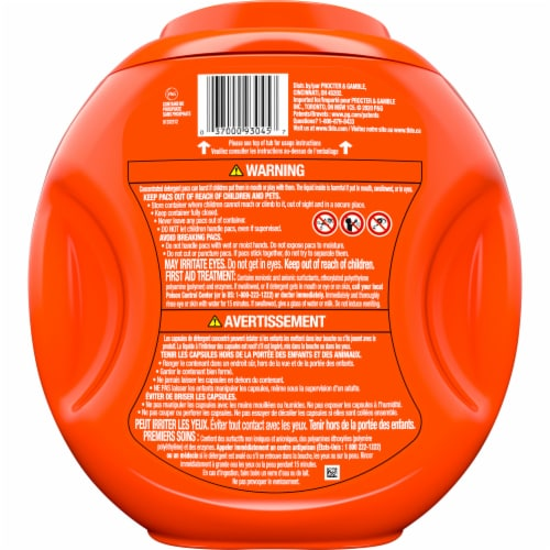 Tide PODS Original 3 in 1 Liquid Laundry Detergent Pacs Perspective: back