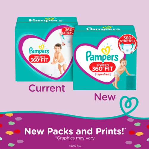 Pampers Cruisers 360 Fit Size 6 Diapers Perspective: back