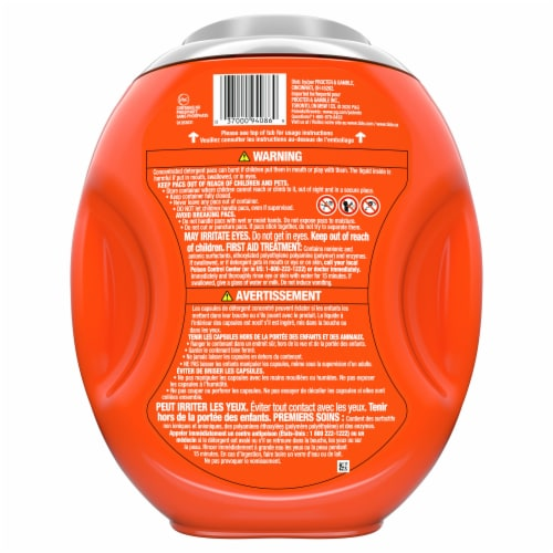 Tide PODS 4 in 1 Ultra Oxi Liquid Laundry Detergent Pacs Perspective: back
