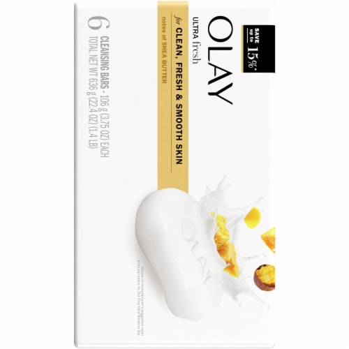 Olay Moisture Outlast Ultra Moisture Shea Butter Beauty Bar for Women Perspective: back