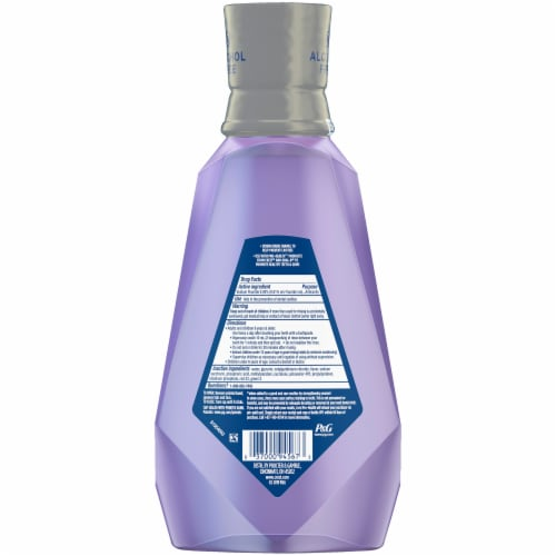 Crest Pro-Health Advanced Mouthwash Alcohol Free Enamel Care Perspective: back