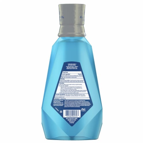 Crest Pro-Health Advanced with Extra Deep Clean Fresh Mint Anticavity Fluoride Mouthwash Perspective: back