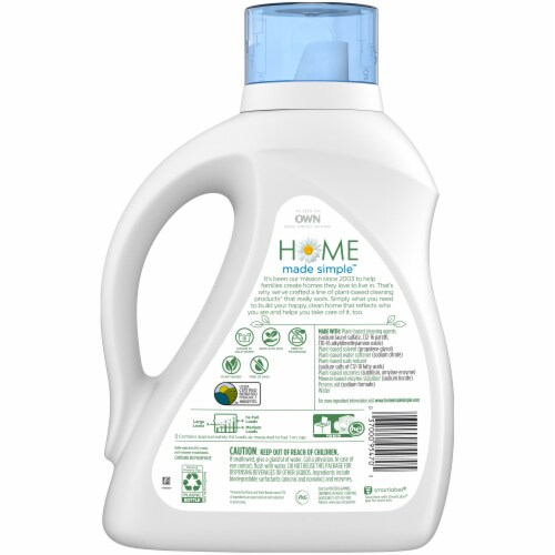 Home Made Simple Unscented Liquid Laundry Detergent Perspective: back