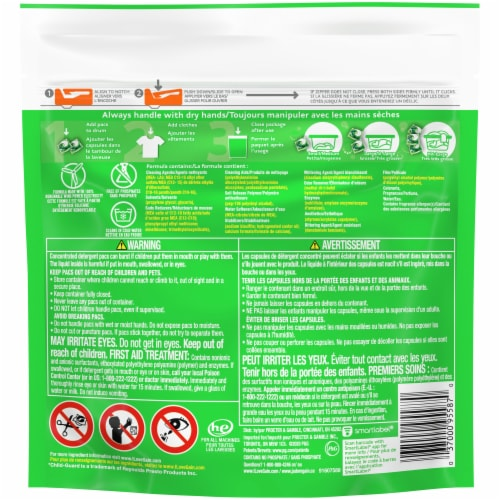 Gain Flings +Aroma Boost 3-in-1 Original Scent Laundry Detergent Pacs Perspective: back