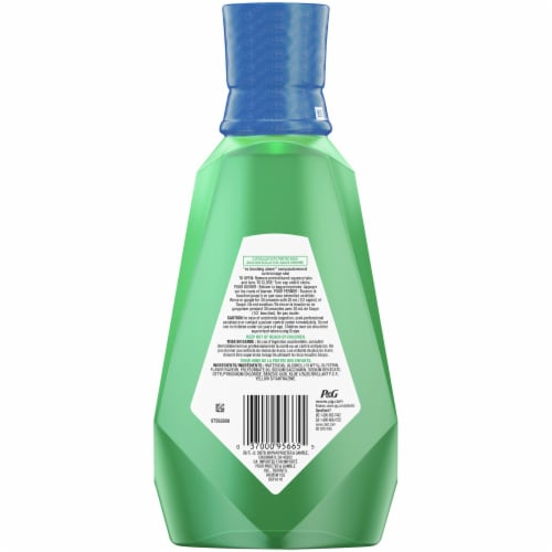 Crest Scope Outlast Mouthwash Long Lasting Mint Perspective: back