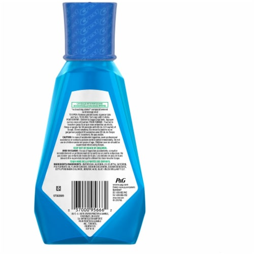 Crest Scope Outlast Mouthwash Long Lasting Peppermint Perspective: back
