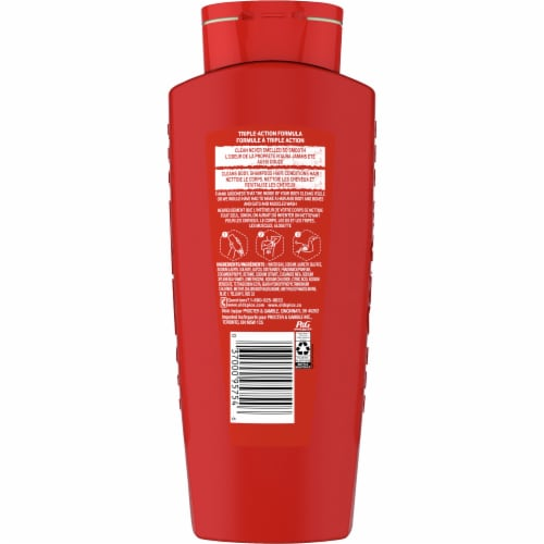 Old Spice High Endurance Hair & Body Wash Perspective: back