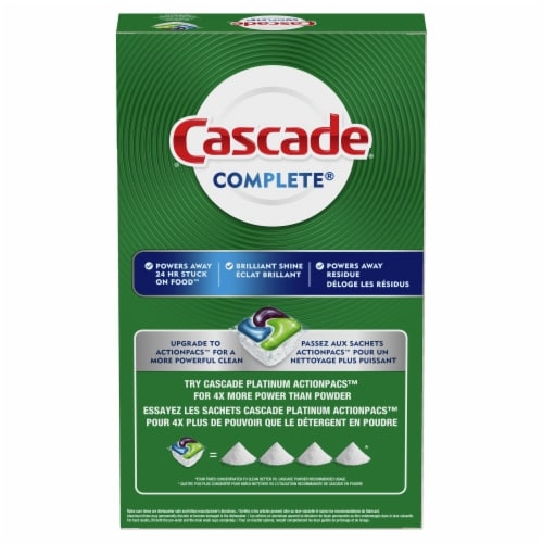 Cascade Complete Fresh Scent Dishwasher Detergent Powder Perspective: back