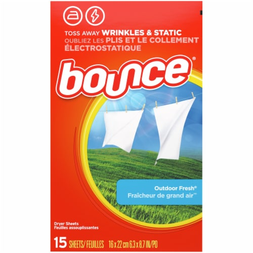 Bounce® Outdoor Fresh Dryer Sheets Perspective: back