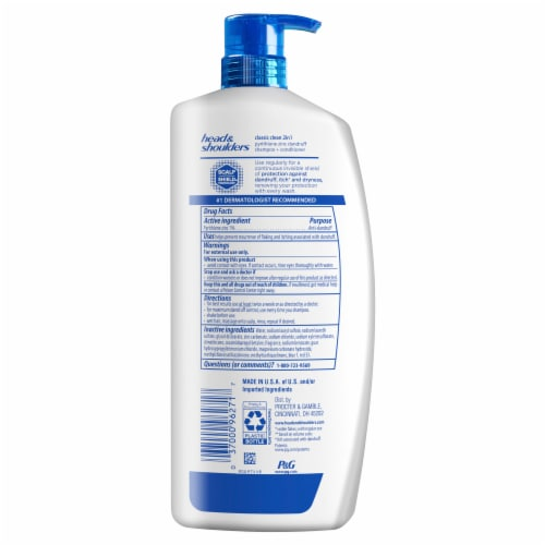 Head and Shoulders Classic Clean Anti-Dandruff 2 in 1 Paraben Free Shampoo and Conditioner Perspective: back