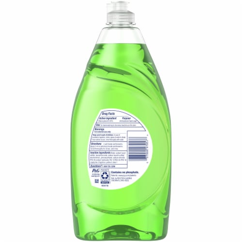 Dawn Ultra Antibacterial Dishwashing Liquid Dish Soap Apple Blossom Scent Perspective: back
