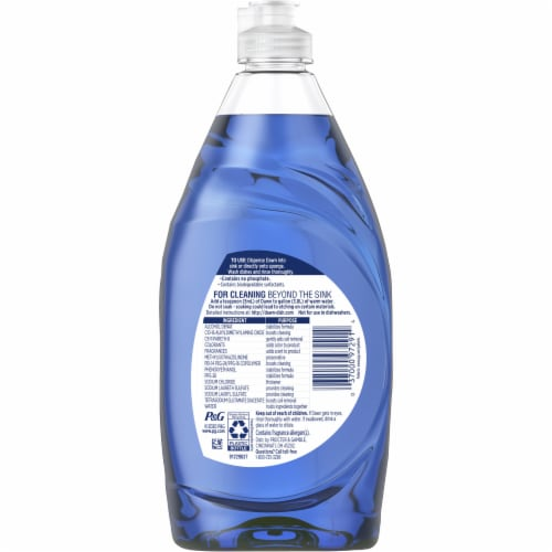Dawn Ultra Refreshing Rain Scent Platinum Dishwashing Liquid Perspective: back