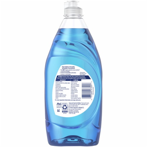 Dawn Ultra Dishwashing Liquid Dish Soap Original Scent Perspective: back