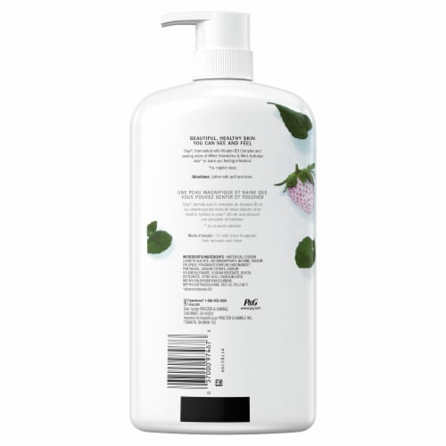 Olay Fresh Outlast White Strawberry & Mint Body Wash Perspective: back
