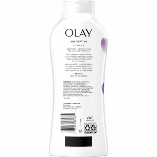 Olay Age Defying Body Wash for Women with Vitamin E Perspective: back