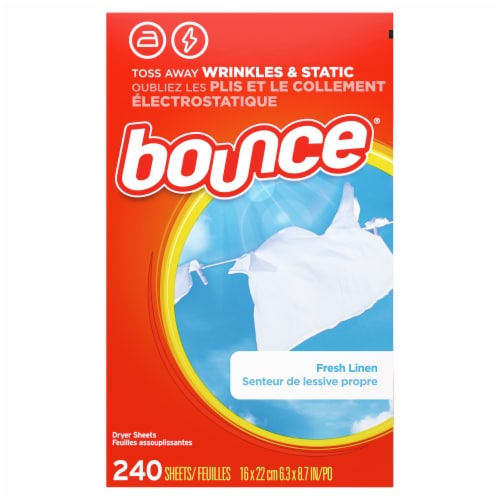 Bounce Fresh Linen Scented Dryer Sheets Perspective: back