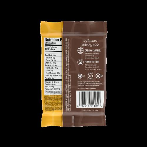 Endangered Species Duoz Peanut Butter & Caramel Dark Chocolate Bar Perspective: back